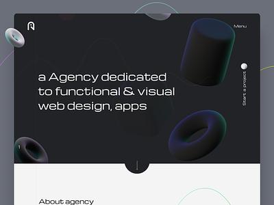 Web: Agency Landing Page design app 2021 trending ui design agency website design design art company website web ui design web ux design ux designs designer agency website webdesign ui design 2021 trend design