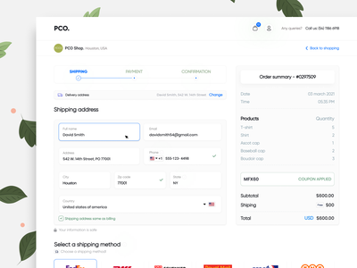Shipping Checkout Experience   Checkout Form UI simple form layout form design form field e-commerce website shipping form ui design shipping box payment form shopping cart ux design 2021 trends