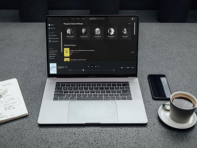 Audio Book Streaming App app ui audiobook ui designer book listening app book listening web app design uidesign design desktop app uiux 2021 trends web app ui design ui design