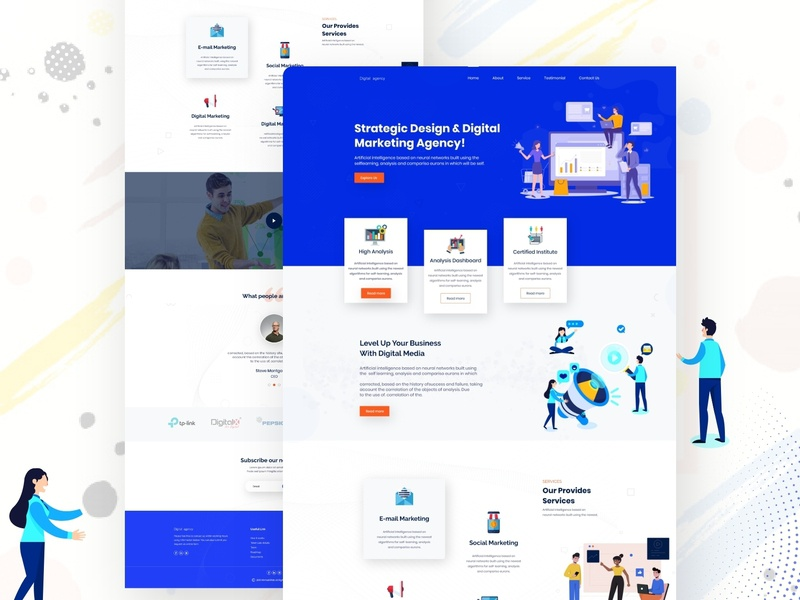 Agency Website UI Design agency illustration typography creative design dribbbble e-commerce website graphic design landing page concept uiux webdesign agency website agency web design