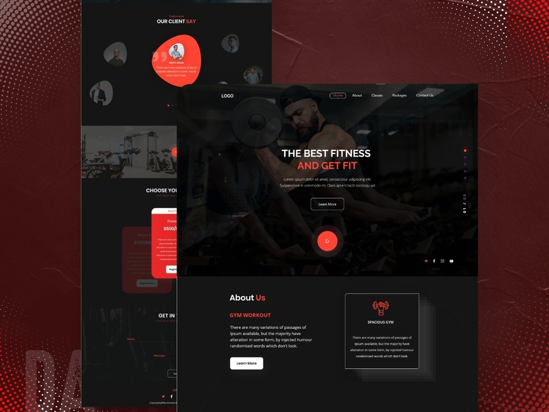 Dark Style GYM Landing Page Design agency design gym landing ui ux branding graphic design landing page concept dribbbble