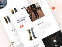 BOOSTED - Skateboard Landing Page