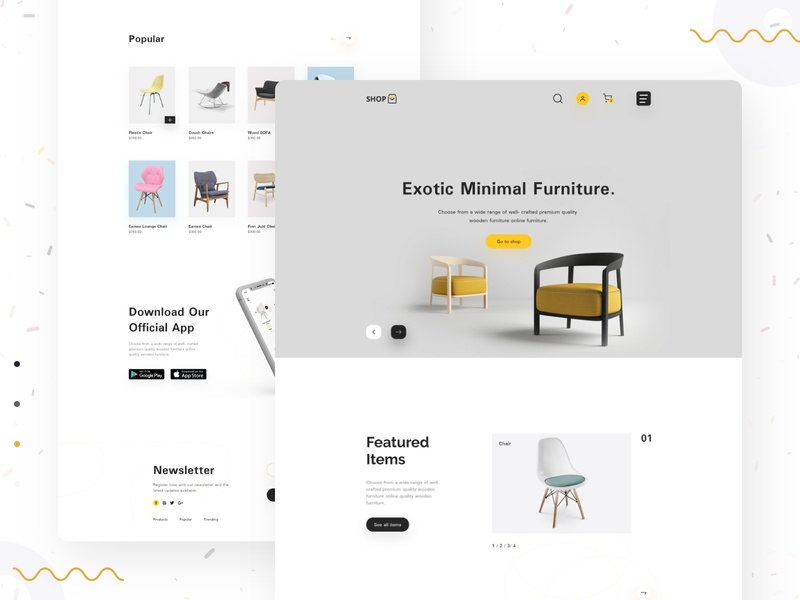 E-commerce Product Landing Page xd design web template design web ui ux web ui uiux design trending design design 2019 dribbbble landing page concept e-commerce shop typography full time job ui ux landing page design minimal product landing page ecommence  grid design chair landing page