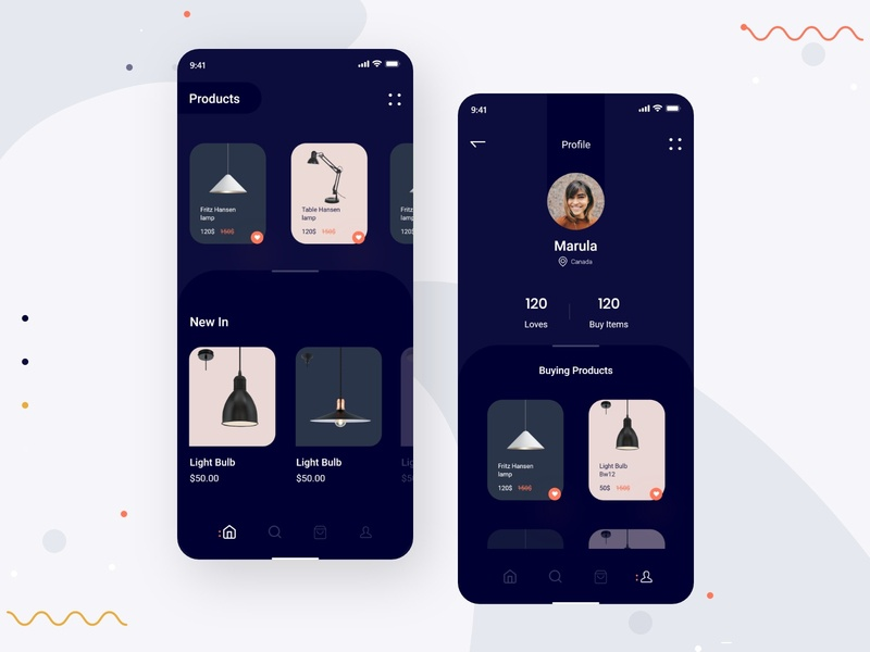 Lamp Product App products lamps design app 2019 trend designs application ecommerce typography dribbbble design uiux app design product lamp app