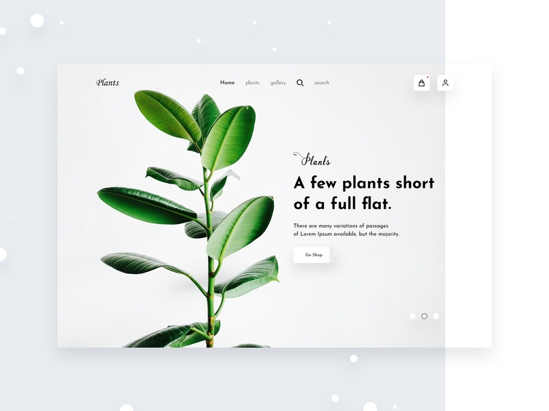 Plant Shop plant e-commerce website planets full time job ui typography ui ux creative design dribbbble design landing page shop plants landing page concept