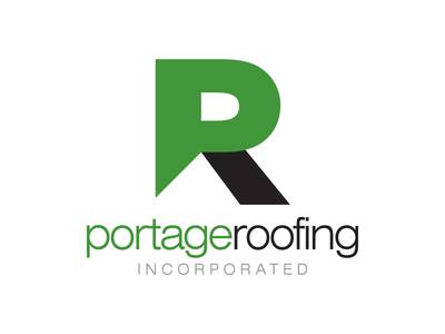 Portage Roofing Logo Concept logo branding identity