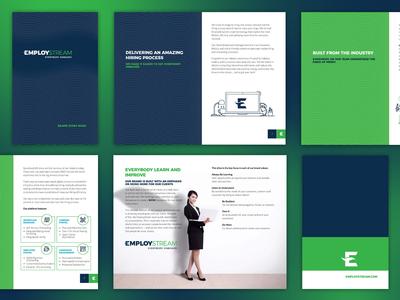 Employstream Brand Book branding logo identity