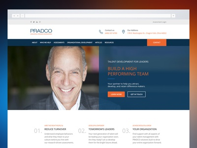 Pradco Website Redesign branding website