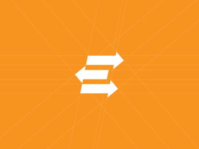 E Logo Mark for ExchangeBase brand logo branding