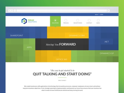 Parlae Solutions Website Design web website