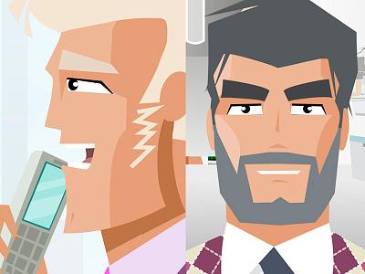 Russian Business Aviation Club animation 2d character design illustration flat men businessman fashion vector luxury glamour aviation