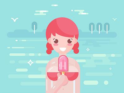 Summer beach pixel beauty sexy nude explainer 2d character design flat woman girl sea beach