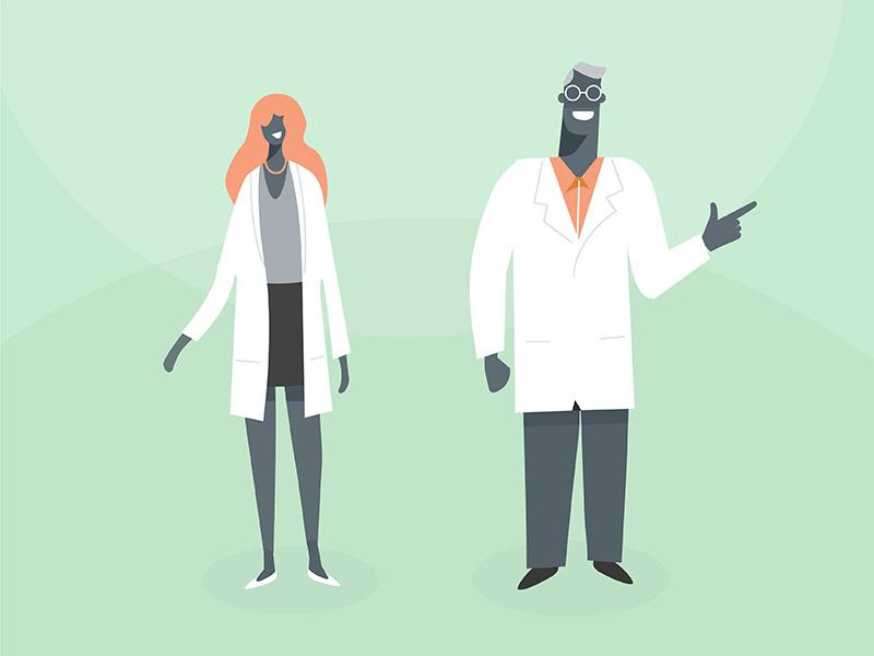 Doctors health ketogenic illustration explainer medico doc nurse flat 2d character design medicine doctor
