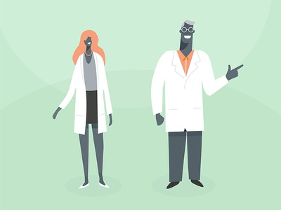 Doctors health ketogenic illustration explainer medico doc nurse flat 2d character design medicine doctor