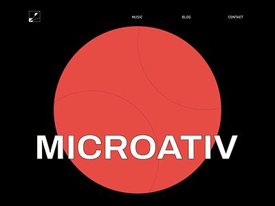 MICROATIV HUB - Typography Echo Trail typography website ui motion graphics motion animation