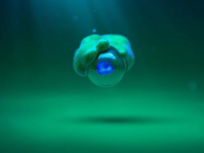 It's Alive! motion graphics motion design volume blob creature scifi loop c4d after effects animation