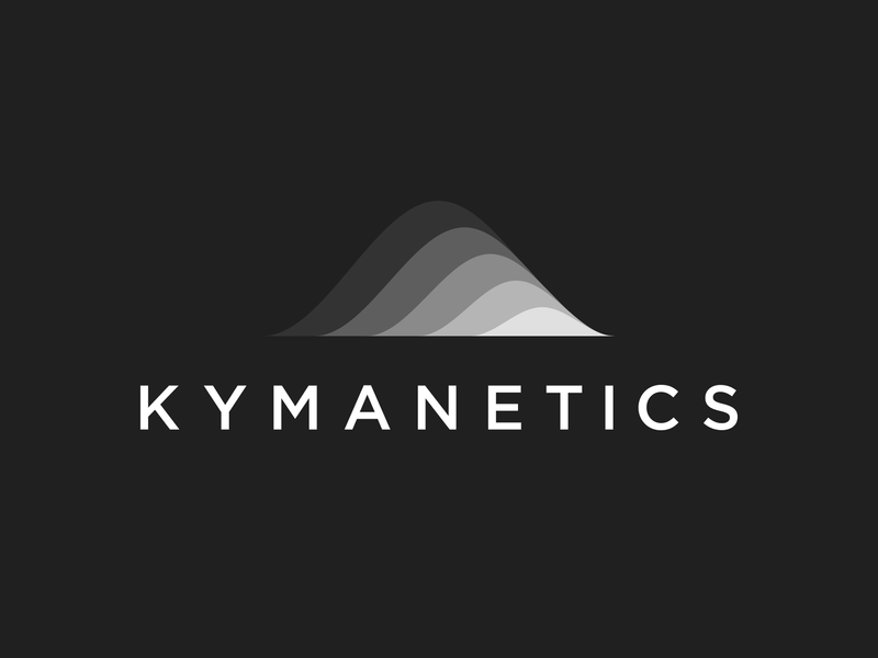 Kymanetics Logo Alternative mit stripes gradient ombre icon wave vector smooth science nano micro logo design logos logo illustrator identity curves branding