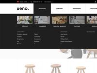 Designer's furnitures store navigation
