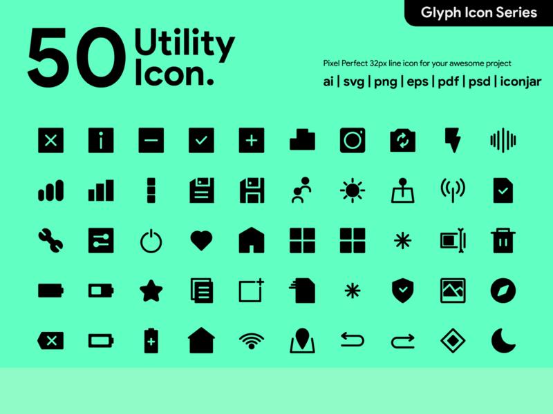 Kawaicon - 50 Glyph Utility icon icon packs iconography graphic iconography pixel perfect icon utility utility icon vector app ui glyph icon icon illustration icon set icon design icon app icon a day