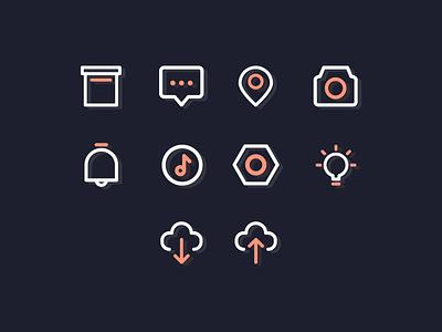 Glitch interface icons design icon iconography vector design vector icon icon packs pixel perfect icon design line icon illustration icon set icon icon design icon app icon a day