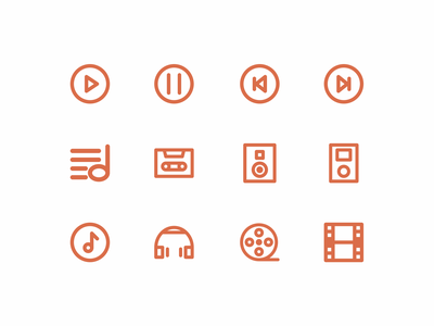 Multimedia outline icon inspiration icons design icon vector design vector icon iconography icon packs pixel perfect icon design line icon illustration icon set icon icon design icon app icon a day