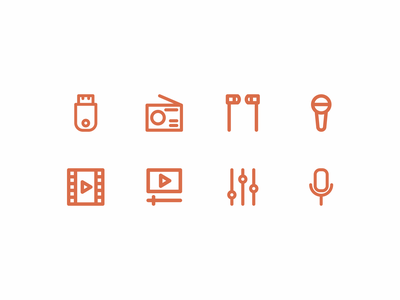 Multimedia icon set icon inspiration design icon vectordesign vector icon iconography icon packs pixel perfect icon design line icon illustration icon set icon icon design icon app icon a day