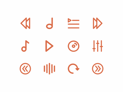 Multimedia icon set icon inspiration vector design vector icon iconography icon packs pixel perfect icon design line icon illustration icon set icon icon design icon app icon a day