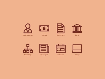Business icons set icon inspiration iconography icon packs pixel perfect icon design line icon illustration icon set icon icon design icon app icon a day