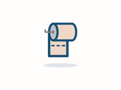 Toilet paper icon icon inspiration iconography vector design pixel perfect icon design illustration icon set icon icon design icon app icon a day
