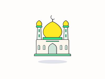 Islamic mosque icon inspiration iconographic vector icon vector design iconography design illustration icon icon design icon app icon a day