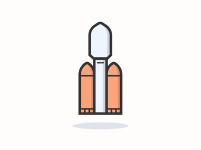 Falcon heavy icon inspiration vector design iconography design illustration icon design icon app icon a day