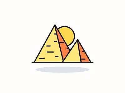 Egypt pyramid icon inspiration vector vector design iconography pixel perfect icon design illustration icon icon design icon app icon a day