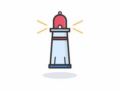 Lighthouse iconographic icon inspiration vector design vector icon iconography pixel perfect icon design illustration icon icon design icon a day