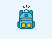 Filled Line Bag Icon