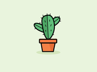 Cactus Filled Line Icon