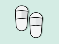 Hotel Sandals Filled Line Icon