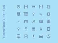 Kawaicon - Furniture Line Icon Set