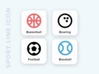 Kawaicon - Sport Line Icon
