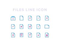 Kawaicon - Files Line Icon