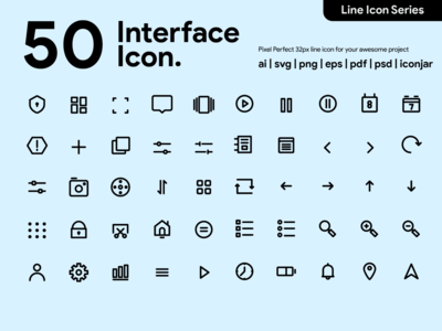Kawaicon - 50 User Interface Line Icon