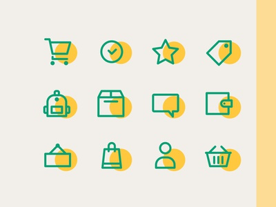 E Commerce icons line