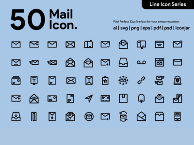 Kawaicon - 50 Mail Line icon