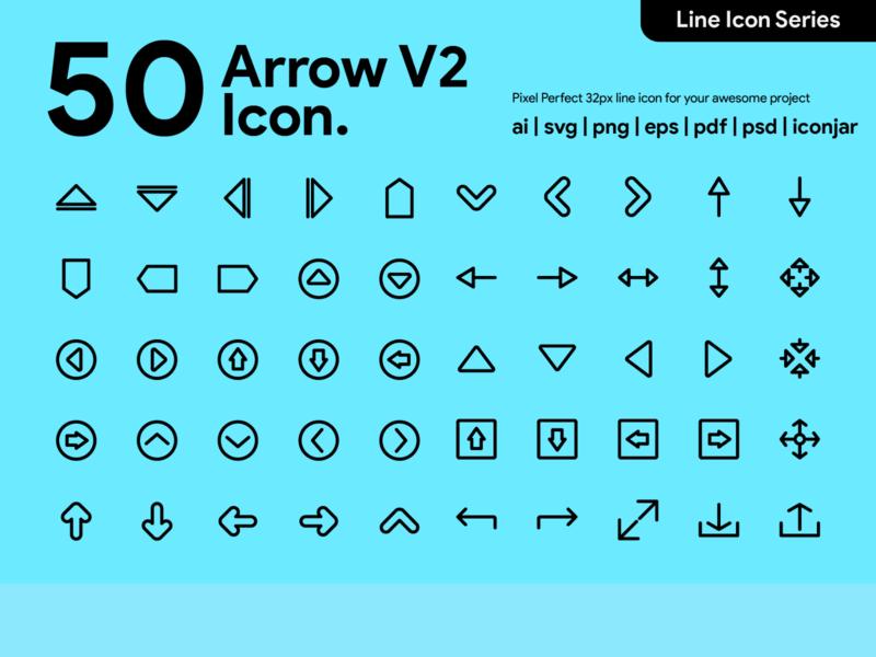 Kawaicon - 50 Arrow Line Icon arrow pixel perfect icon icon packs line line icon icon illustration icon set icon design icon app icon a day