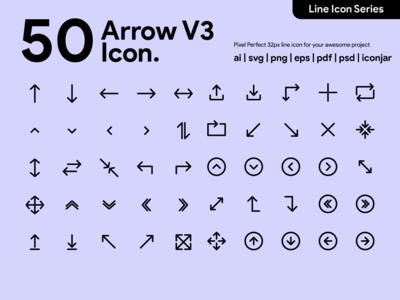 Kawaicon - Arrow Line Icon