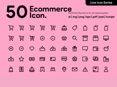 Kawaicon - 50 Ecommerce Line Icon