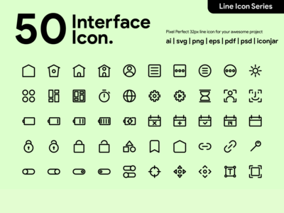 Kawaicon - 50 Interface Line Icon