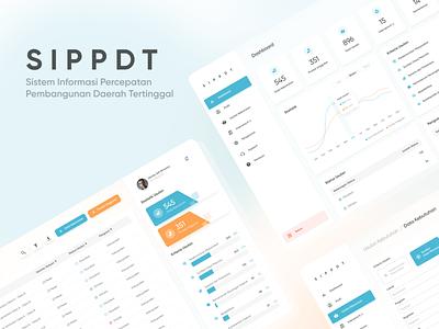 SIPPDT - Aplikasi Usulan Kebutuhan Daerah Tertinggal graphic design branding flat website web app ux ui design