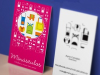 Minusculos business card