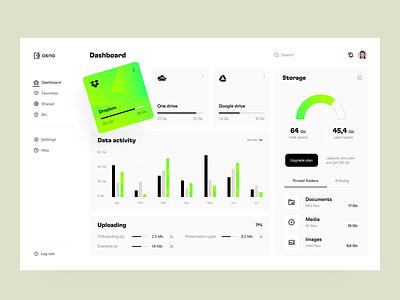 File manager: dashboard product overview file manager files platform dashboard web app web design app design application