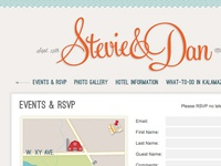Stevie & Dan Wedding Website